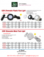 120V LED Dimmable Puck Light