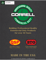 Correll Commercial Duty Products
